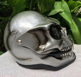 Silver Skull Metallic Skeleton Skull Mask Full Face Helmet Death