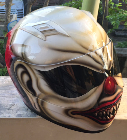 Cutom Order Mad Clown Sick Killer Clown Creepy Scary Clown Helmet