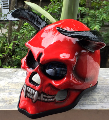 Hell Fire Devil Helmet 666 Damon Goat from the Hell
