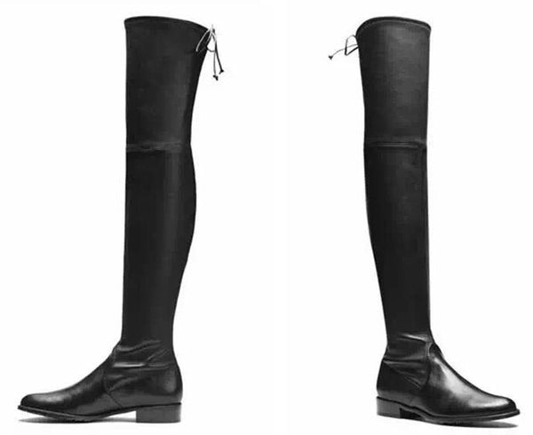 Leather Over the Knee Thigh High Boots