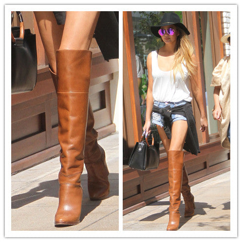 aadec6a871a Lim Ora Over-the-Knee Thigh High Boots Soft Leather
