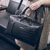Moc Snake Luxury Leather Boston Handbag
