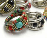 Tibetan Silver Turquoise Inlay Bracelet Bangle