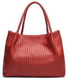 Handmade Knitted Genuine Leather Super Soft Classic Shoulder Handbag