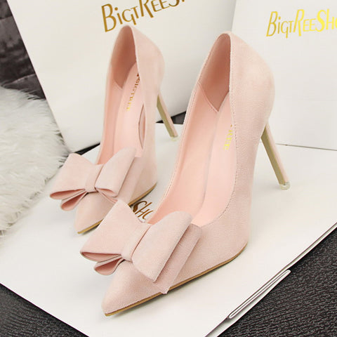 Bowtie Stiletto High Heel Pumps