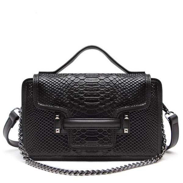 Serpentine Genuine Leather Messenger/Clutch Bag