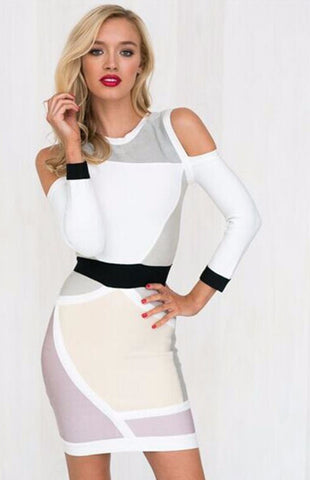 Long-Sleeve Bodycon Bandage Dress