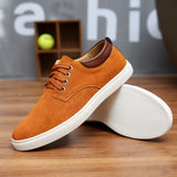 Handmade Suede Lace Up Canvas Shoes