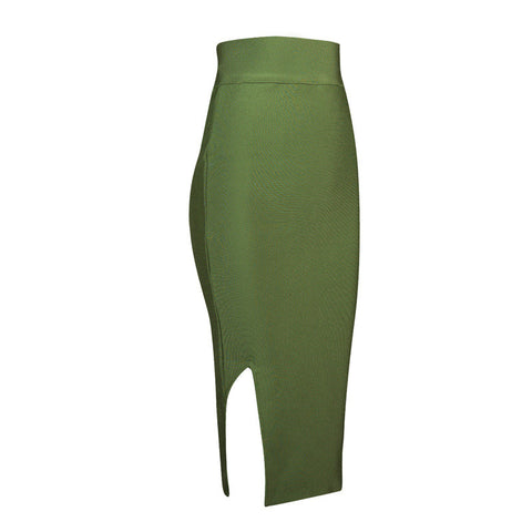 Bodycon Bandage Side Slit Pencil Skirt