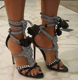 Multicolor Knotted Straps Rope Gladiator Sandals