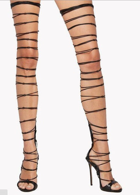 High Over Gladiator The Thigh Knee Sandals ONwkXn0PZ8