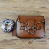 Genuine Leather Luxury Mini Messenger Saddle Bag