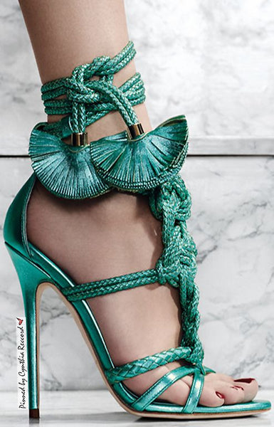 Braided Rope Knot Lace Up Sandals