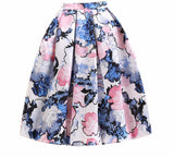 Blooming Beauty High Waist A-Line Skirt