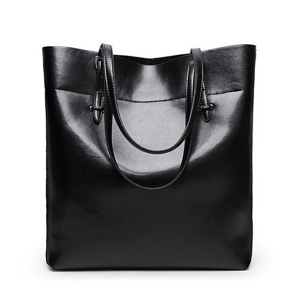 Vegan Leather Large Shopper Handbag