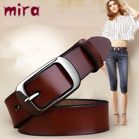 Genuine Leather Glossy Brief Belt
