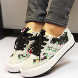Flower Girl Breathable Canvas Sneakers