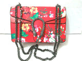 Floral Snakes and Chain Messenger Bag