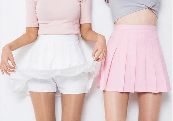 Tennis Pleated High Waist Skirt