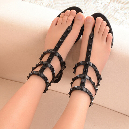 Studded Rivet Gladiator Flats