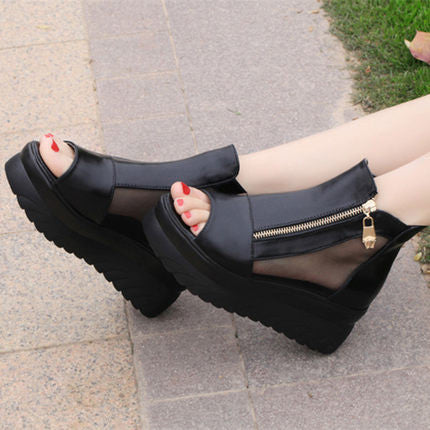Open Toe Fish Mouth Wedges