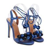 Disco Ball High Fashion Strappy Sandals