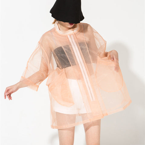 See Through Organza Tent Windbreaker