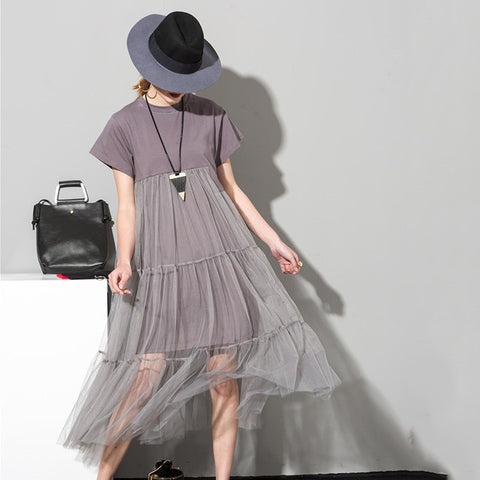 Tulle Style T-Shirt Dress