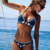 Bohemian Handmade Crochet Shell Triangle String Bikini Set