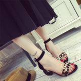 Octagon Low Heel Sandals
