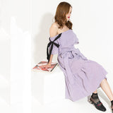 Country Girl Mid Calf Ruffles Dress