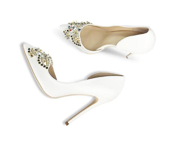 Rivets and Leather D'Orsay Classic Pumps