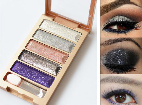 5 Colors Diamond Eyeshadow Pallette