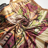Oil Painting Big Size Silk Scarf