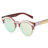 Vintage Points Round Frame Semi Rimless Sunglasses