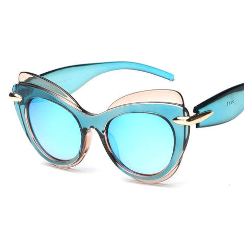 Triple Deck Extreme Cat Eye Sunglasses