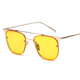 Unisex Classic Metal Double Beam Sunglasses
