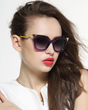 Twisted Curve Metal Frame Cat Eye Sunglasses