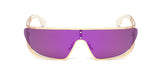 Pilot Futuristic Integrated Flat Panel Mirrored Sunglasses