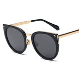 Chic Round Cat Eye Sunglasses