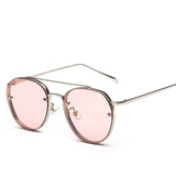 Unisex Round Double Beam Sunglasses
