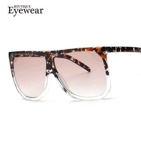True Vintage Ombre Flat Top Square Sunglasses