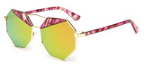 CRIUS Hexagon Mirrored Sunglasses for women