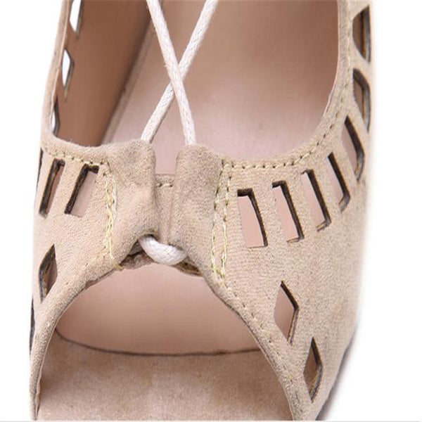 Open Toe Cut Outs Gladiator High Heel Pumps