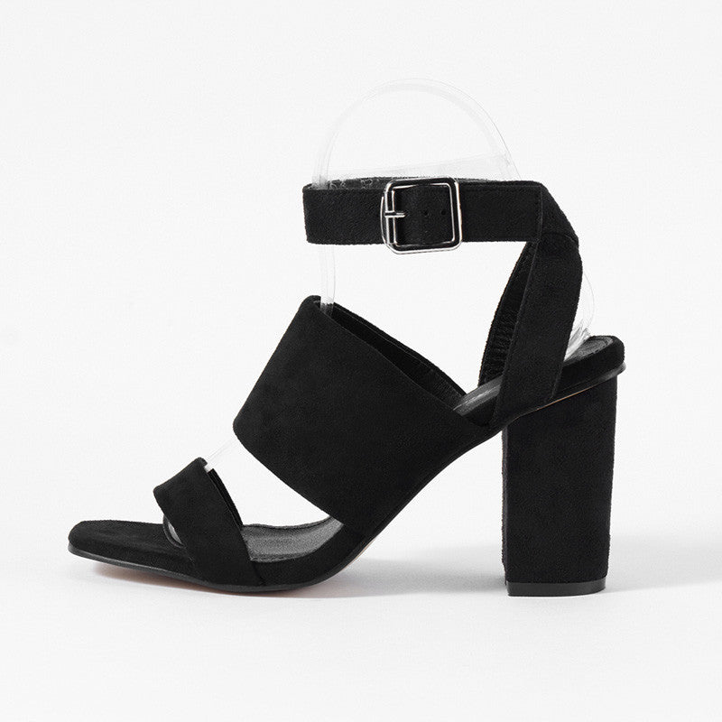 7a0cc7405d5 Roman Style Strappy Ankle Strap Block Heels – THULI NYC