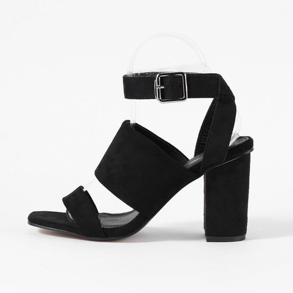 Roman Style Strappy Ankle Strap Block Heels