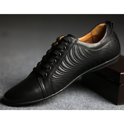 Vegan Leather Breathable Lace Up Shoes