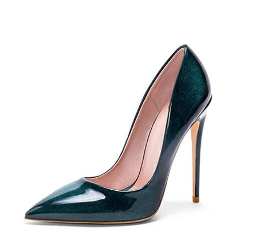 Genuine Patent Leather City Girl Pumps