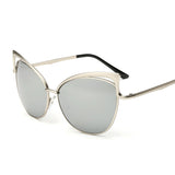 Vintage Cat Eyes Mirrored Sunglasses