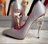 Baroque Luxury Couture Silk Pumps